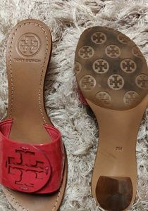 Tory Burch Shoes - Tory Burch Patent Leather Logo Mules